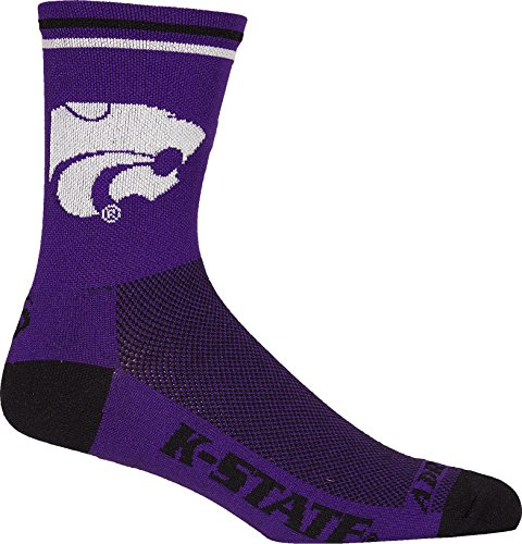 NCAA Kansas State Wildcats Cycling/Triathlon/Running Socks, Large/X-Large (State Kansas Socks Wildcats)