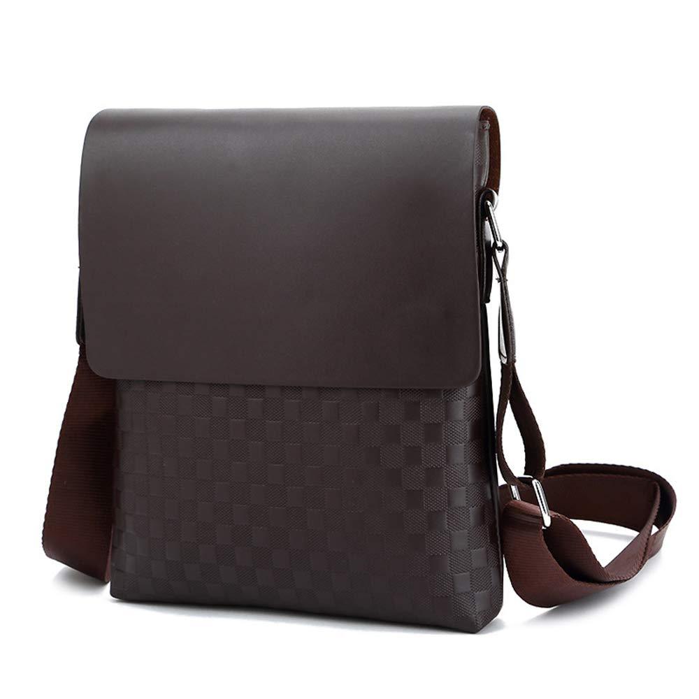 Business Shoulder Bag Work Briefcase Large Capacity Waterproof,Brown ALTINOVO PU Leather Messenger Bag for Men