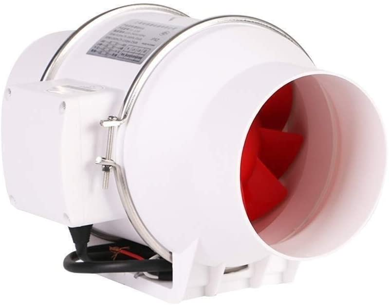 ASYCHEN Extractor de ventilación 6 Pulgadas extractores de Aire bidireccional Aficionados Rectas de Alta Velocidad Silent Energy Savings Adecuado for baño, Cocina, Espacio de Oficina