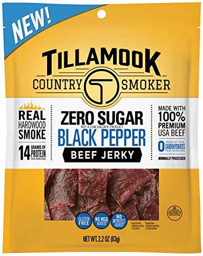 Tillamook Country Smoker Zero Sugar Black Pepper Keto Friendly Beef Jerky, 2.2 Ounce (Pack of 1)