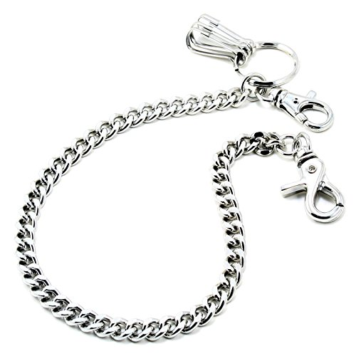 (DoubleK Basic Strong Leash Biker Trucker Key Jean Wallet Chain (17