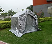 OTLIVE Heavy Duty Carport Canopy Portable Waterproof Anti-UV with Sidewall