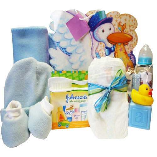 Art of Appreciation Gift Baskets Look What The Stork Brought Gift Bag Set, Boy