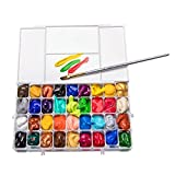 36 Deep Wells Paint Containers Paint Palette Case Airtight for Watercolors, Gouache, Acrylic and Oil Paint