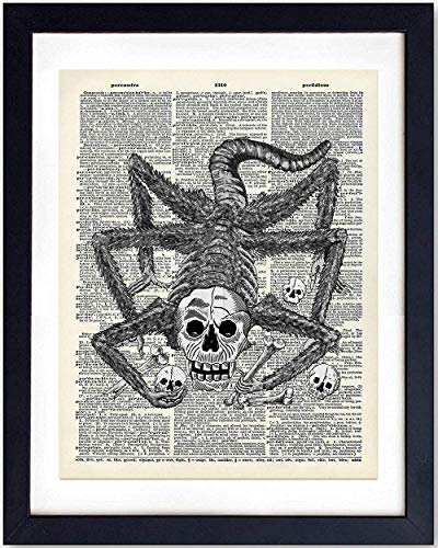 ctionary Photo - Ready to Frame (8X10) Vintage Photo - Great Gift and Chic Home Decor - Steampunk Skull Monster ()