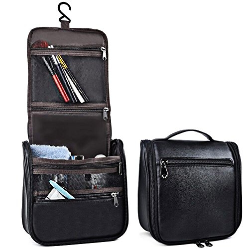 Hanging Leather Toiletry Bag - 6