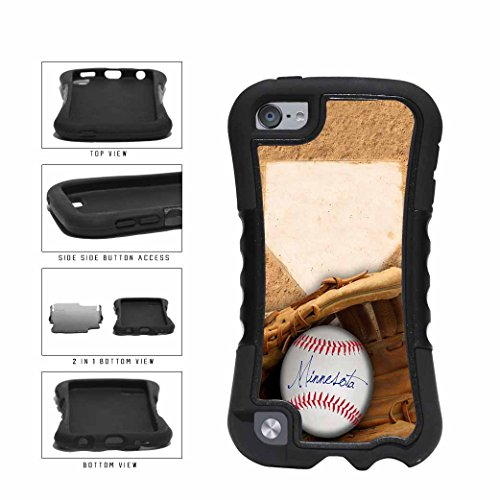 Minnesota Glove and Baseball 2-Piece Dual Layer Phone Case Back Cover Apple iPod Touch 5th Generation - Champions Minnesota Twins