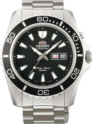 Orient Men's 'Mako XL' Japanese Automatic Stainless Steel Diving Watch, Color:Silver-Toned (Model: FEM75001BW)