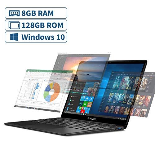 TECLAST F6 Ordenador Portatil 13.3 Pulgadas, 8GB LPDDR4 RAM+128GB SSD, 1920×1080 Full HD/ Windows 10(64bit), Intel…