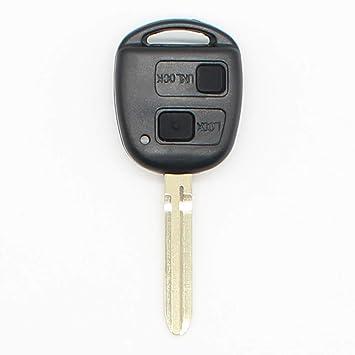 2 botones de mando a distancia para llave FobCae sin cortar ...