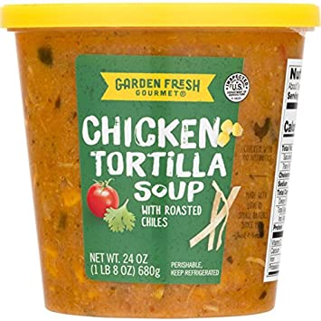 garden fresh gourmet chicken tortilla soup with roasted chiles 24 ounce - Garden Fresh Gourmet
