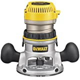 DEWALT DW618K 2-1/4 HP Electronic Variable Speed Fixed Base Router with So Start Kit For Sale