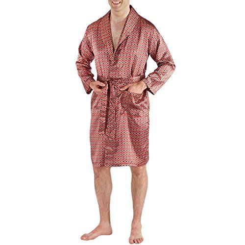 0bcafd24b2 harvey james Mens Satin Kimono Wrap 9725 Red M