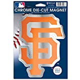 MLB San Francisco Giants Die Cut Logo Chrome Magnet, 6.25 x 9-Inch