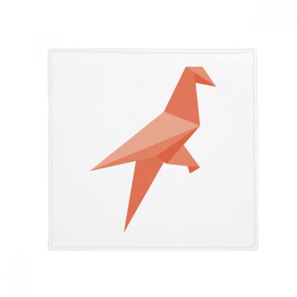 DIYthinker Red Bird Abstract Origami Pattern Anti-Slip Floor Pet Mat Square Home Kitchen Door 80Cm Gift