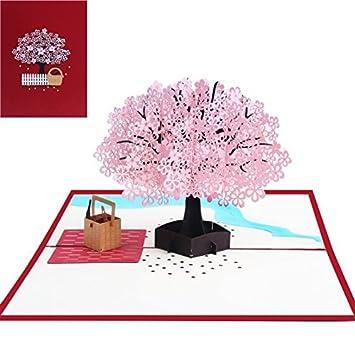 Amazon.com: Tarjeta desplegable, tarjeta de felicitación 3D ...