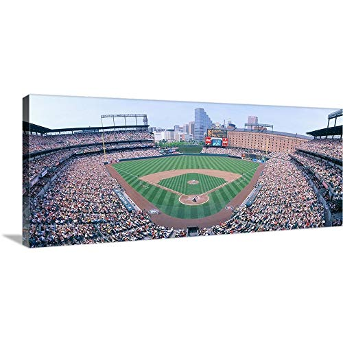 GREATBIGCANVAS Gallery-Wrapped Canvas Entitled Camden Yard Stadium, Baltimore, Orioles v. Rangers, Maryland by Panoramic Images 48