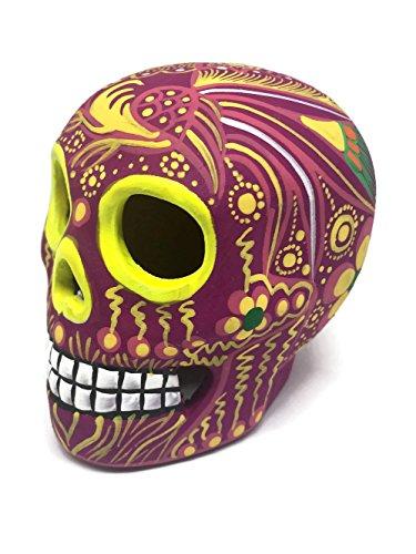 Hand-painted Ceramic Sugar Skull Figurine ~ Made in Mexico ~ Day of the Dead ~ Decor ~ Calavera ~ Dia de Los Muertos ~ Halloween 3