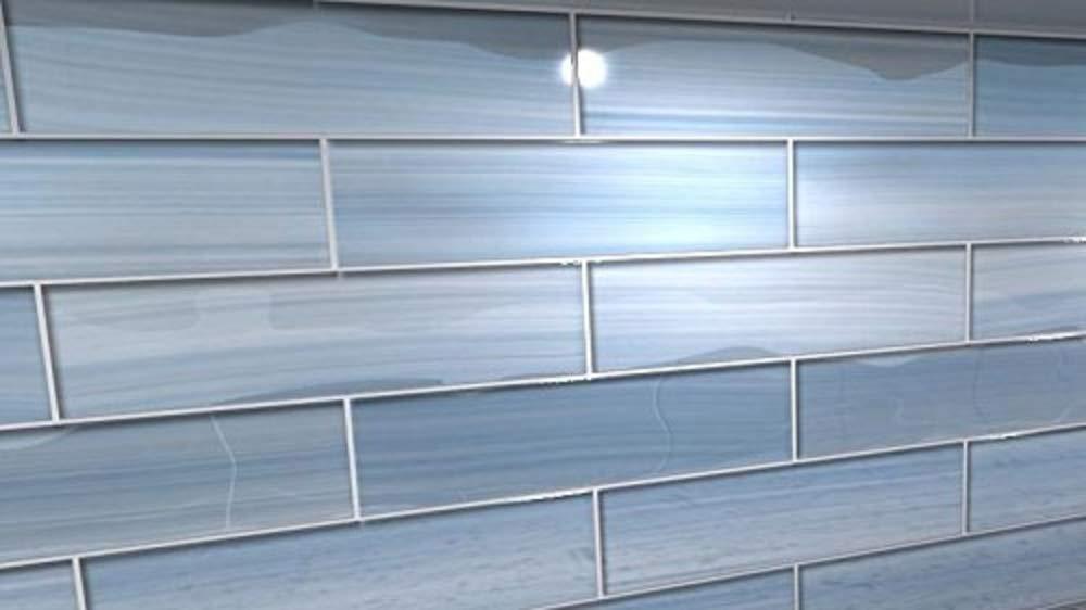 Big Blue Glass tile Perfect for Kitchen Backsplashes and showers, Sample