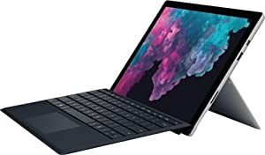 "Microsoft Surface Pro 5 12.3"" Touch-Screen (2736 x 1824) Tablet PC w/Black Keyboard, Intel Core M3, 4GB Memory, 128GB SSD, WiFi, Card Reader, Bluetooth, Mini DisplayPort, Windows 10, Platinum"