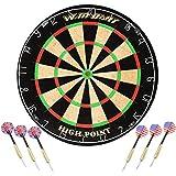 WIN.MAX Blade 18' Bristle Dartboard Steel Tip Dart Board with Flights, Finger Grip Wax, Darts (18' Bristle Dartboard)