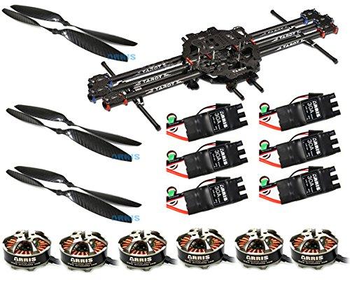 Tarot FY680 6軸カーボンヘキサコプター FPV 空撮航空機スーパーコンボモーター ESC プロペラ付き TL68B01