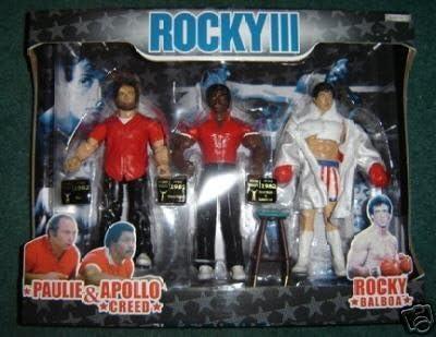 Jakks Pacific Rocky III Exclusive Rockys Corner Clubber Lang Fight Action Figure 3-Pack Paulie, Apollo & Rocky by Jakks: Amazon.es: Juguetes y juegos