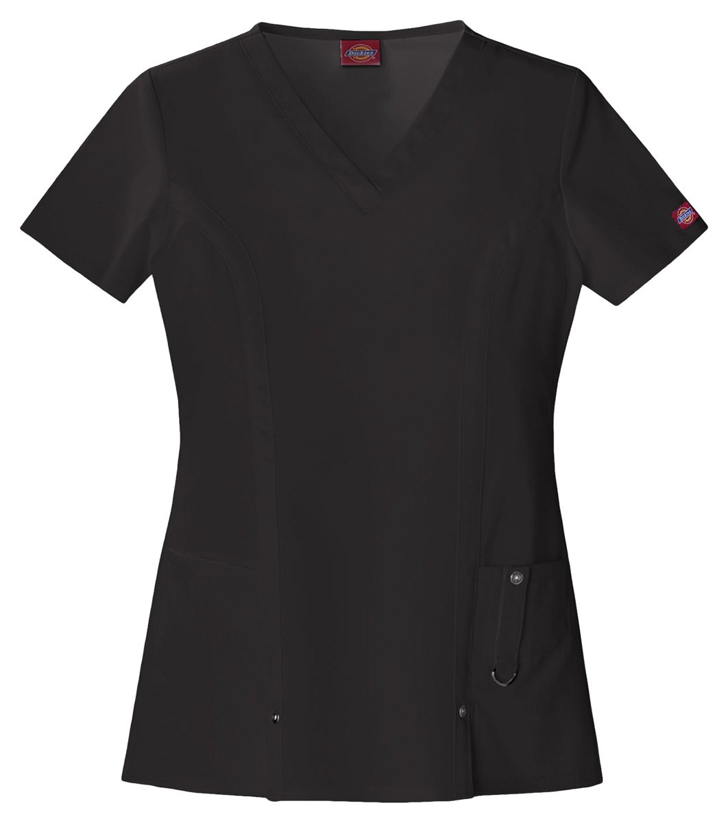 Dickies Women's Classic V-Neck Top_Black_XXX-Large,82851