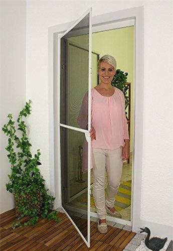 1PLUS Insektenschutz Alu Rahmen System basis für Türen in verschiedenen Größen und Farben (120 x 240cm, Weiß)