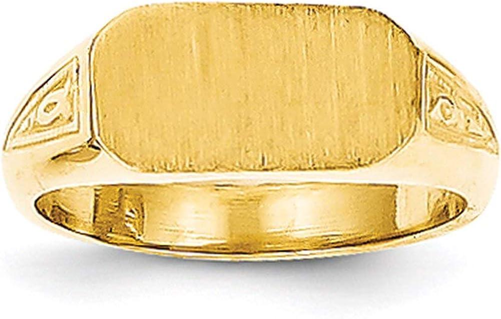 Lex /& Lu 14k Yellow Gold Signet Ring LAL97748