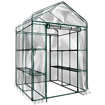 a27482703503 Amazon.com : YOUKE Walk-in Greenhouse PE Cloth Cover Garden House ...