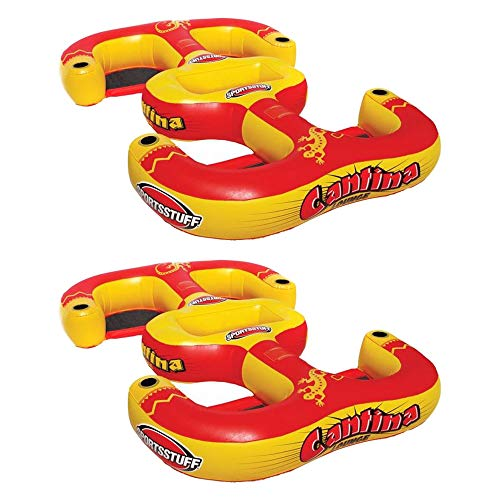 (SportsStuff 54-2025 Cantina Lounger 4-Person Inflatable Pool Beach Lake Raft (2 Pack))