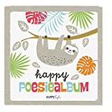 Goldbuch poetry album Sloth 96White Pages Laminated 6.5'x 6.5' inches, Art Print, Grey/White, 41580