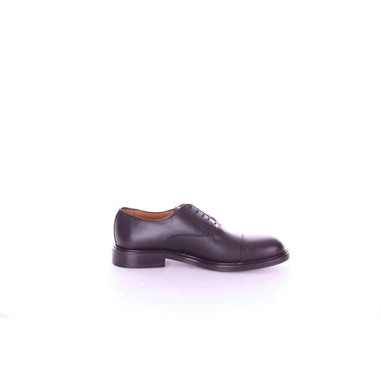 - RICHARD OWE'N Men's 3000VITELLOBLACK Black Leather Lace-Up shoes
