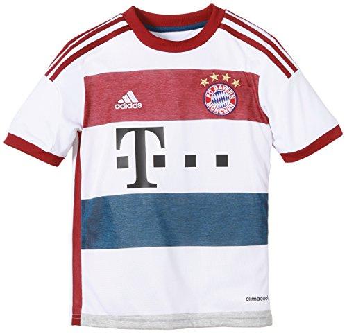 adidas Jungen Spieler-Trikot FC Bayern München Replica Auswärts, White/Mid Grey S14/Collegiate Burgundy/Tribe Blue S14, 164, F48418