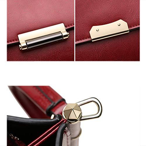 Sac femme européenne bag Messenger main bandoulière femme pour carré mode à et sac pour petit à de Brown sac américaine PU rq7tZrwa