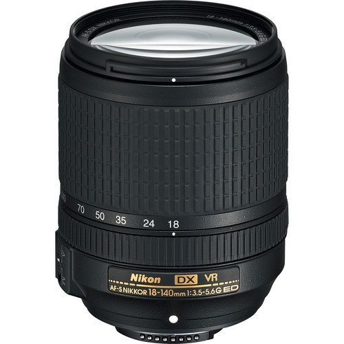 Nikon AF-S DX NIKKOR 18-140mm f/3.5-5.6G ED Vibration Reduction Zoom Lens with Auto Focus for Nikon DSLR Cameras International Version (No Warranty)