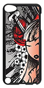iPod Touch 5 Case, iPod Touch 5 Cases - Samurai Woman PC Custom Design iPod Touch 5 Case Cover - Polycarbonate¨CTransparent