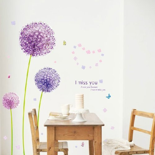 Znyo Dandelion Pattern Background Wall StickerBedroom Bedroom Living Room Decor