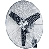 MaxxAir HVWM 30 OSC 30-Inch Heavy Duty Oscillating 3-Speed Fan with Wall Mounting Bracket