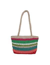 Dynamic Asia Women's Striped Crochet Handbag
