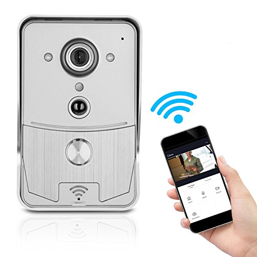 BRIHOME Wi-Fi Enabled Video Doorbell, Smart Doorbell 720P HD Real-Time Two-Way Talk and Video, Night Vision, Motion Sensor and Alarm function, Smart App Control