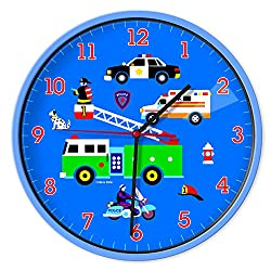 Wildkin Wall Clock Olive Kids, Heroes, One Size