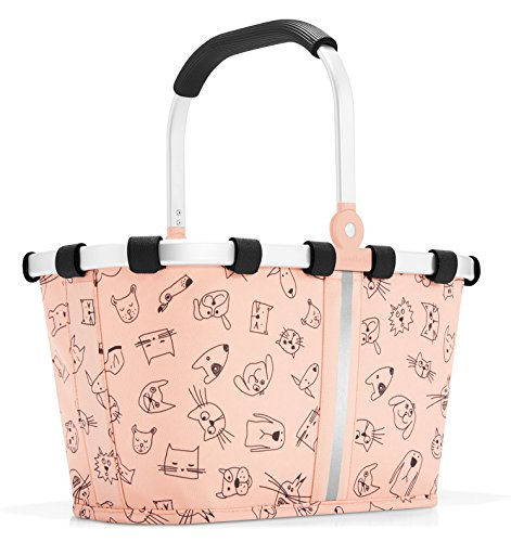 (reisenthel Carrybag XS Kids, Extra Small Collapsible Basket, Cats and Dogs Rose)