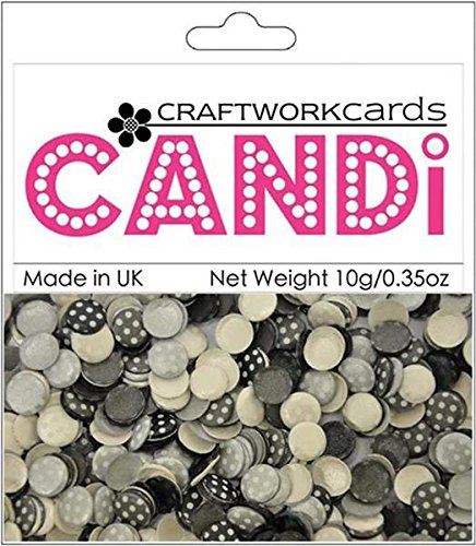 Craftwork Cards - Craftwork Cards Candi Dot Printed Embellishments, 0.35-Ounce, Ritz
