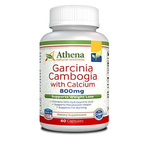 Athena - Garcinia Cambogia Extract ( 800mg ) with Calcium - 60 Capsules - Made in the USA