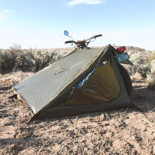 Abel Brown Nomad 3 Adventure Motorcycle Tent Camping