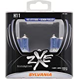 SYLVANIA H11 SilverStar zXe High Performance Halogen Headlight Bulb, (Pack of 2)