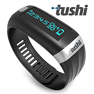 Tushi Fitness Tracker Wristband. Bright Oled Display - Multiple Wireless Functions with additional Silent Vibration Alarm & Activity Reminder - Monitor Your Health & Fitness at the Touch of a Button