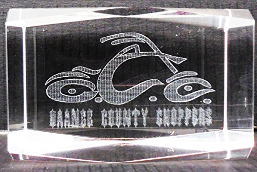 Orange County Choppers Holographic 3-D Laser Etched Paperweight